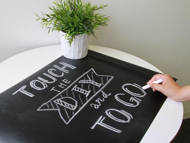 マス目裏紙付きの簡単シート!~リンテックコマース 貼るだけで黒板になるシール~