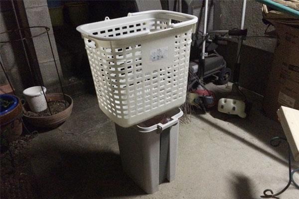 お母さんに洗濯カゴ置き台をDIY!