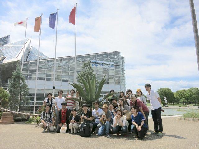 大都の課外活動、大阪の植物園を見学。